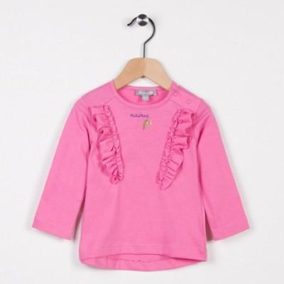 Tee-shirt avec volants Vieux Rose