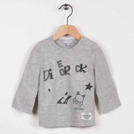 Tee-shirt manches longues Gris clair