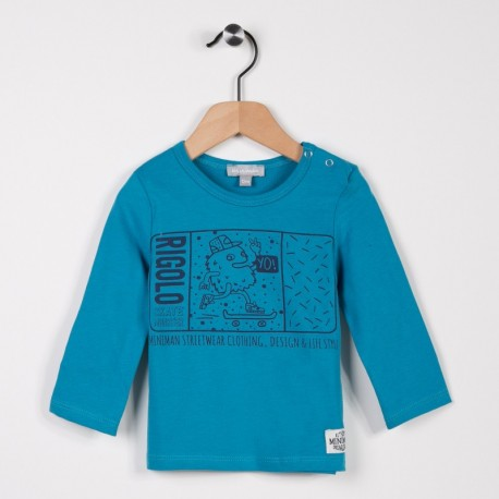 Tee-shirt manches longues Turquoise