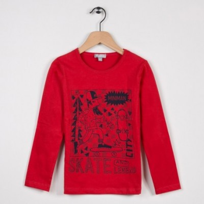 Tee-shirt manches longues Rouge