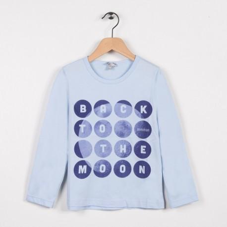 Tee-shirt manches longues Bleu grise