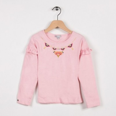 Tee-shirt avec volants Rose pale