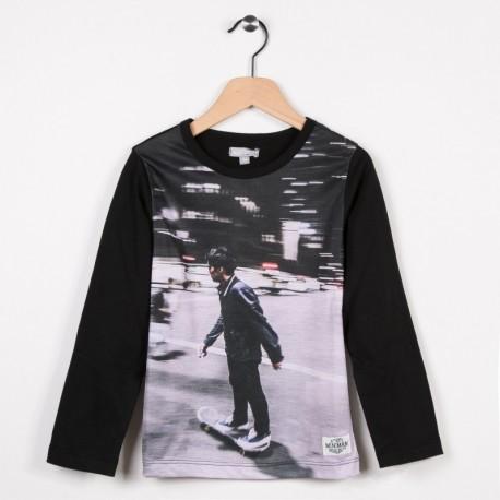 Tee-shirt manches longues Noir