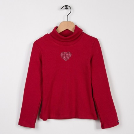 Sous pull avec strass Rouge