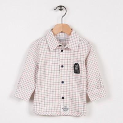 Chemise à carreaux Ecru