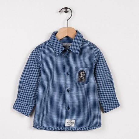 Chemise à carreaux Bleu grise
