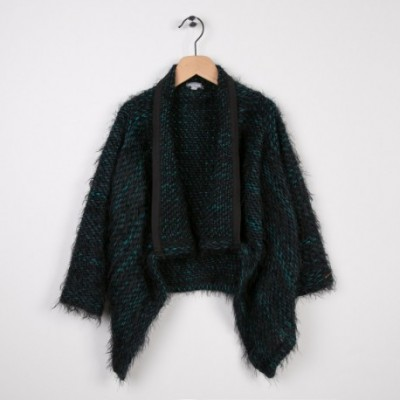 Cardigan long tricot Noir