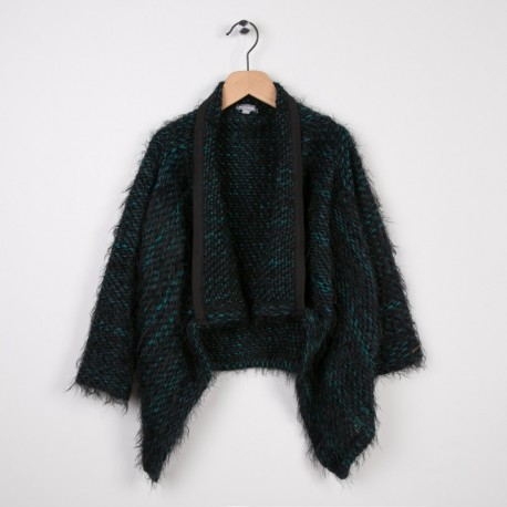 Cardigan long tricot Noir