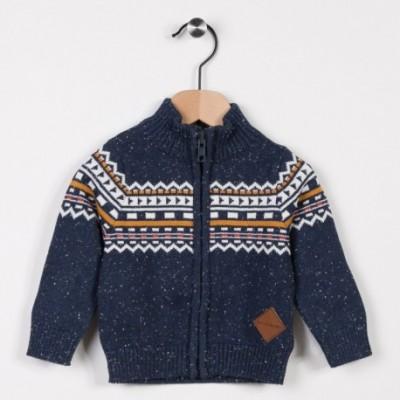 Gilet tricot avec jacquard Marine