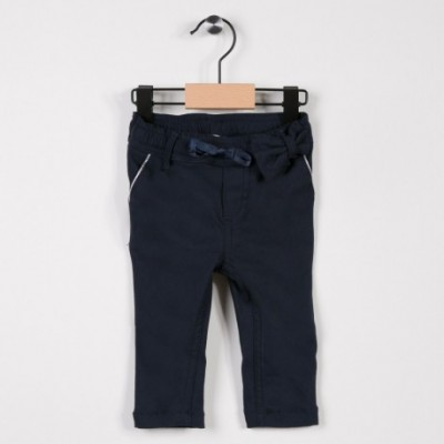 Pantalon fille avec stretch Marine