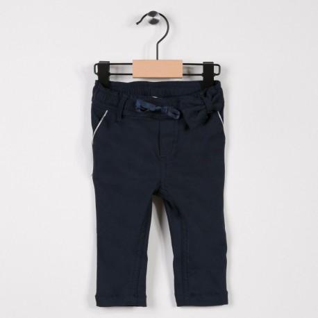 Pantalon fille avec stretch Marine