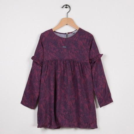 Robe imprimée Bordeaux