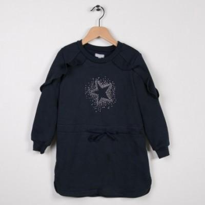 Robe en molleton Marine