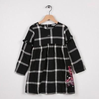 Robe à carreaux Noir