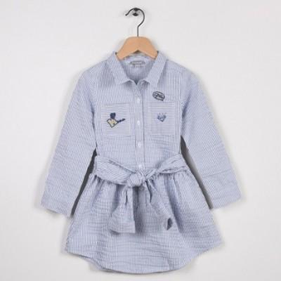 Robe rayée esprit chemise Bleu grise
