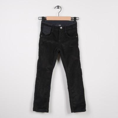 Pantalon  5 poches en velours Gris fonce