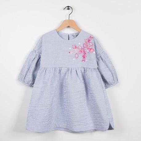 Robe rayée Bleu grise