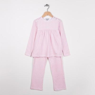 Pyjama en jersey imprimé Vieux Rose