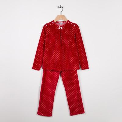Pyjama en velours Rouge