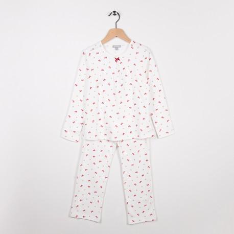 Pyjama en jersey imprimé Ecru