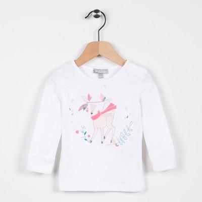Tee-shirt manches longues Blanc