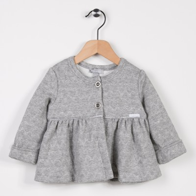 Cardigan molleton Gris clair