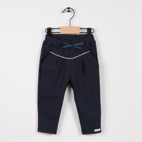 Pantalon fille en molleton Marine