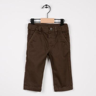 Pantalon garçon en toile Marron fonce