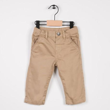 Pantalon garçon en toile Beige