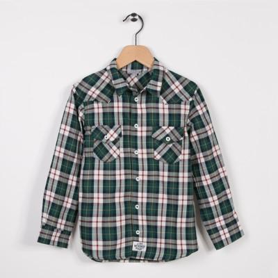Chemise à carreaux Vert