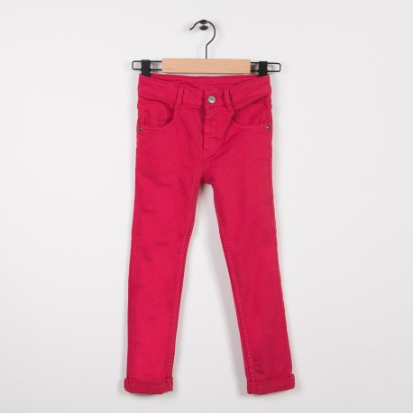 Jean slim avec stretch Fuchsia