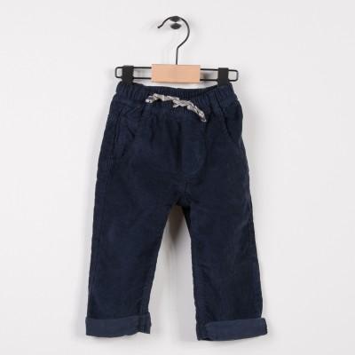 Pantalon garçon en velours Marine