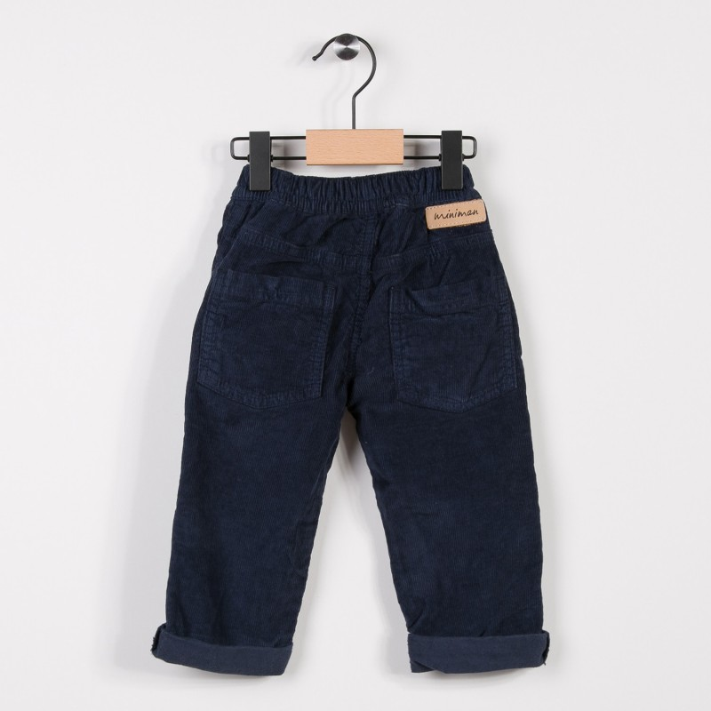 pantalon gar on en velours marine miniman shop. Black Bedroom Furniture Sets. Home Design Ideas