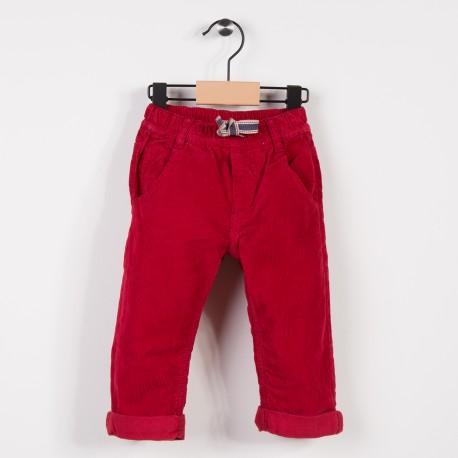 Pantalon garçon en velours Rouge fonce