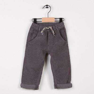 Pantalon garçon en velours Gris fonce
