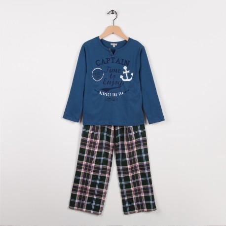 Pyjama 2 pièces Bleu roi