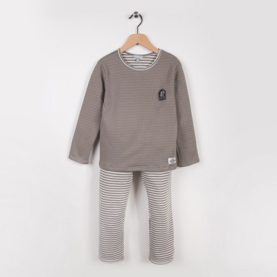 Pyjama 2 pièces Beige fonce