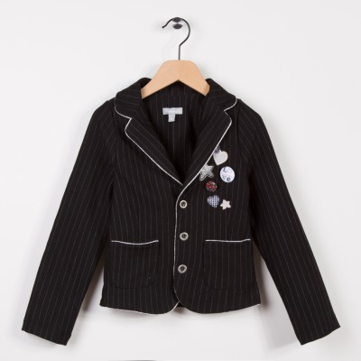 Veste blazer en maille milano Noir