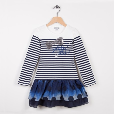 Robe marinière Bleu grise