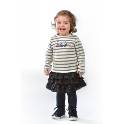 Look bébé fille en robe marinière