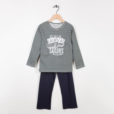 Pyjama 2 pièces Marine