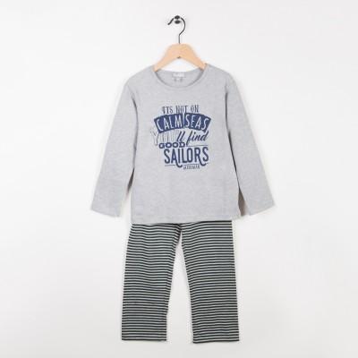 Pyjama 2 pièces Gris clair