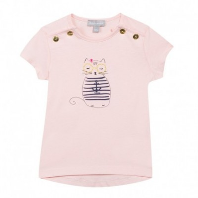 TEE SHIRT FILLE Rose pale