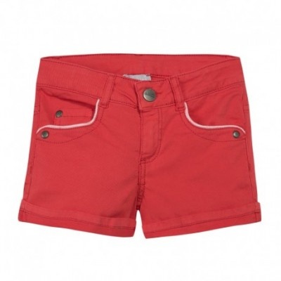 SHORT FILLE Rouge