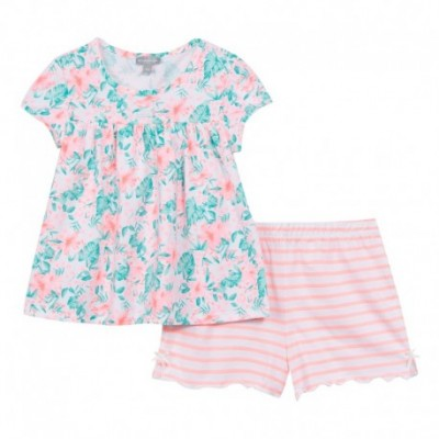 PYJAMA 2 PIECES FILLE Rose saumon