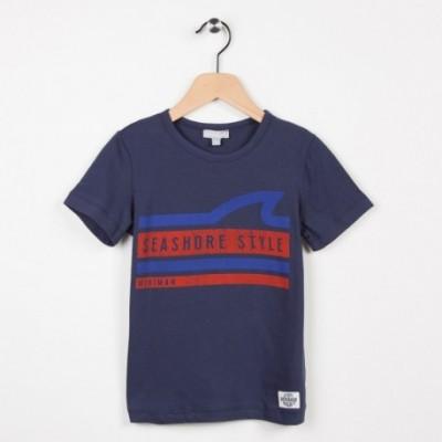 Tee-shirt avec motif imprimé - Marine