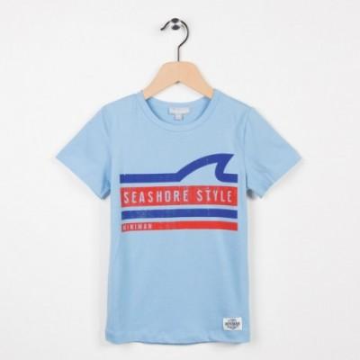 Tee-shirt bleu avec motif esprit surfeur