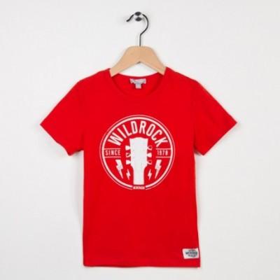 Tee-shirt rouge avec motif tendance rock