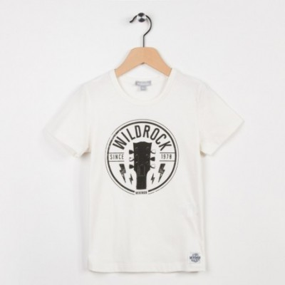 Tee-shirt écru avec motif tendance rock