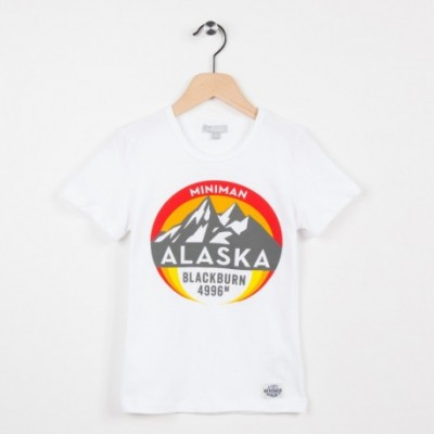 Tee-shirt blanc motif esprit aventure